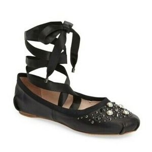 Top Shop Studded Ballet Flats